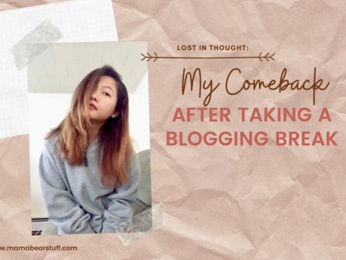 My Comeback After Taking a Blogging Break